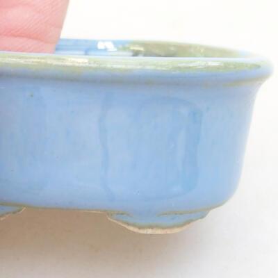 Mini Bonsai Schüssel 4 x 3,5 x 1,5 cm, Farbe blau - 2