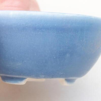 Mini Bonsai Schüssel 3,5 x 3,5 x 2 cm, Farbe blau - 2