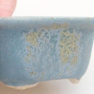 Mini Bonsai Schüssel 4 x 3 x 2 cm, Farbe blau - 2