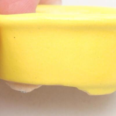 Mini Bonsai Schüssel 6 x 3,5 x 2 cm, Farbe gelb - 2