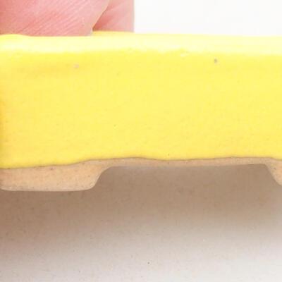 Mini Bonsai Schüssel 4,5 x 2,5 x 1,5 cm, gelbe Farbe - 2