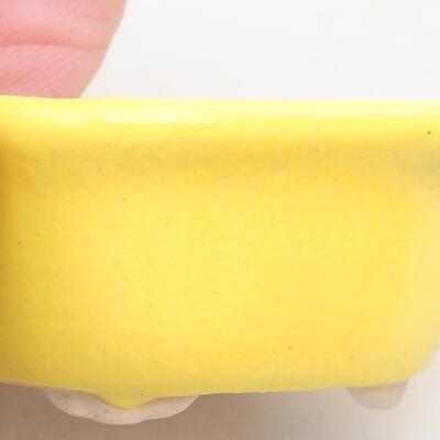 Mini Bonsai Schüssel 4 x 3,5 x 2,5 cm, Farbe gelb - 2