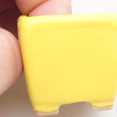 Mini Bonsai Schüssel 3 x 3 x 3 cm, Farbe gelb - 2