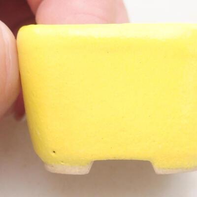 Mini Bonsai Schüssel 3,5 x 3,5 x 2,5 cm, gelbe Farbe - 2