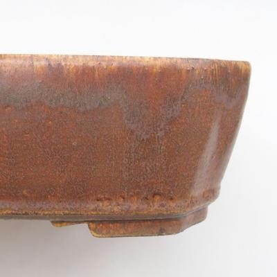 Keramische Bonsai-Schale 24 x 21 x 6,5 cm, braune Farbe - 2