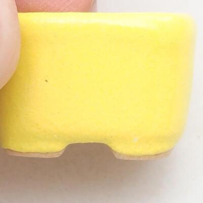 Mini Bonsai Schüssel 2 x 2 x 1,5 cm, Farbe gelb - 2