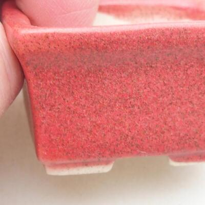 Mini Bonsai Schüssel 4 x 3 x 2,5 cm, Farbe rot - 2