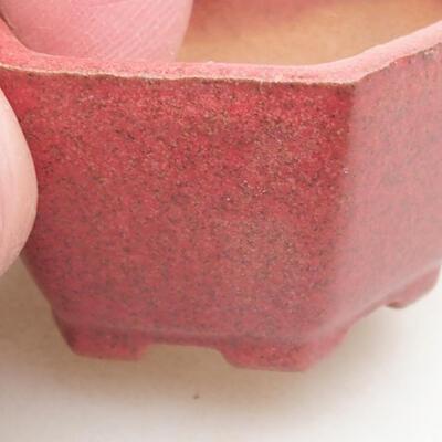 Mini Bonsai Schüssel 4 x 3,5 x 2 cm, Farbe rot - 2