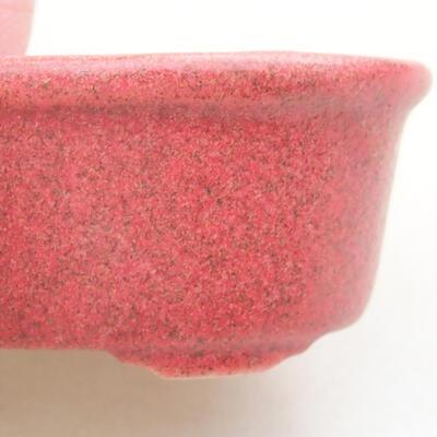 Mini Bonsai Schüssel 4 x 3 x 2 cm, Farbe rot - 2