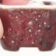 Mini Bonsai Schüssel 3,5 x 3,5 x 2,5 cm, Farbe rot - 2/3