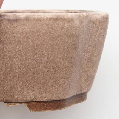 Keramische Bonsai-Schale 17 x 14,5 x 6 cm, beige Farbe - 2