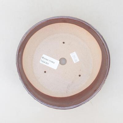 Keramische Bonsai-Schale 17,5 x 17,5 x 5 cm, braune Farbe - 2