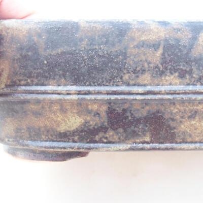 Keramische Bonsai-Schale 23,5 x 18 x 7 cm, Farbe braungrau - 2