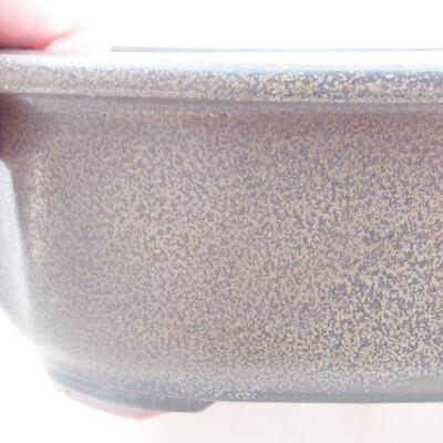 Keramische Bonsai-Schale 23 x 20 x 7 cm, Farbe grau - 2