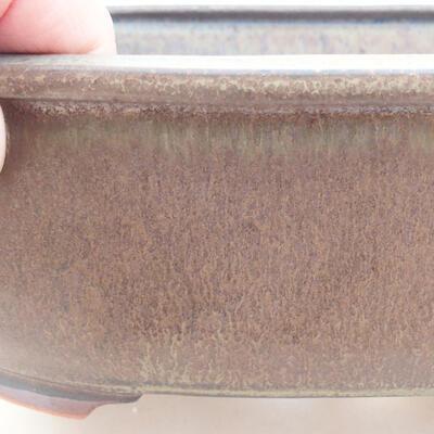 Keramische Bonsai-Schale 20,5 x 16,5 x 7 cm, graue Farbe - 2