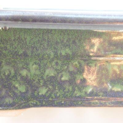 Keramische Bonsai-Schale 20,5 x 15 x 7 cm, Farbe grün - 2