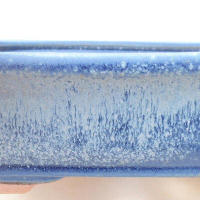 Keramische Bonsai-Schale 17 x 13,5 x 4,5 cm, Farbe blau - 2