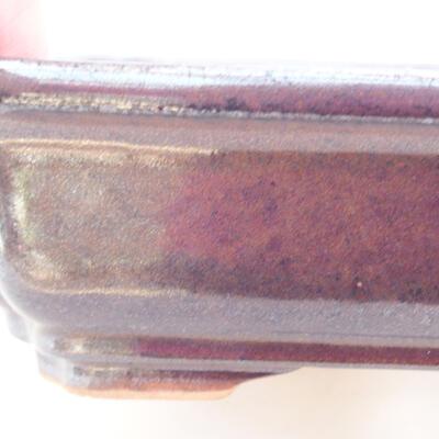 Keramische Bonsai-Schale 17 x 13 x 7 cm, Farbe braun - 2