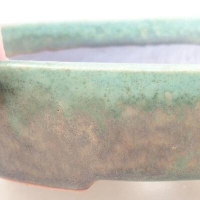 Keramische Bonsai-Schale 17 x 14 x 4 cm, Farbe grün - 2