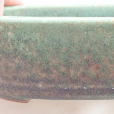Keramische Bonsai-Schale 12,5 x 9 x 3,5 cm, Farbe grün - 2