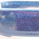 Keramische Bonsai-Schale 12,5 x 9 x 3,5 cm, Farbe blau - 2/3