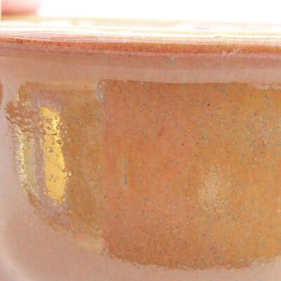 Keramische Bonsai-Schale 13 x 10,5 x 5 cm, braune Farbe - 2