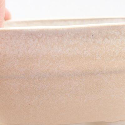 Keramische Bonsai-Schale 11,5 x 8 x 5 cm, beige Farbe - 2