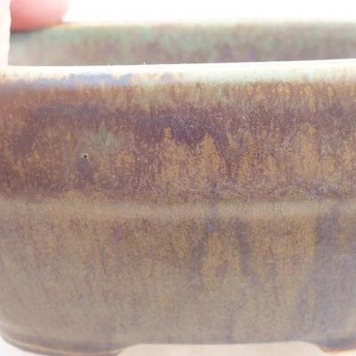 Keramische Bonsai-Schale 11,5 x 8 x 5 cm, Farbe grün - 2