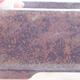 Keramische Bonsai-Schale 14,5 x 11 x 5 cm, braune Farbe - 2/3