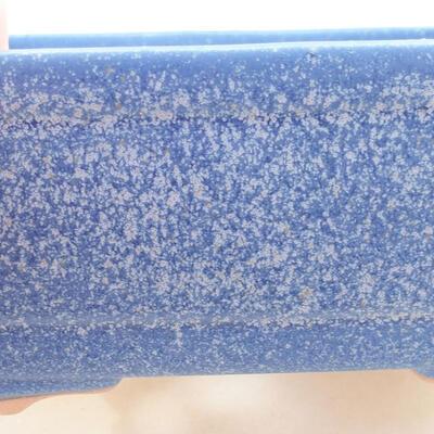Keramische Bonsai-Schale 14,5 x 11 x 5 cm, Farbe blau - 2