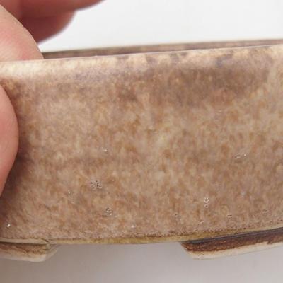 Keramische Bonsai-Schale 9,5 x 8,5 x 3,5 cm, beige Farbe - 2