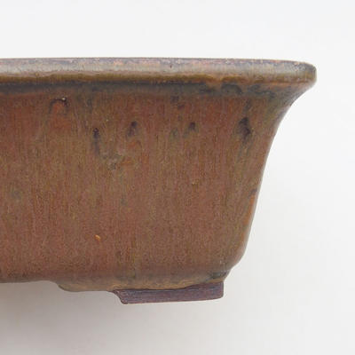 Keramische Bonsai-Schale 21,5 x 18 x 7 cm, Farbe braun - 2