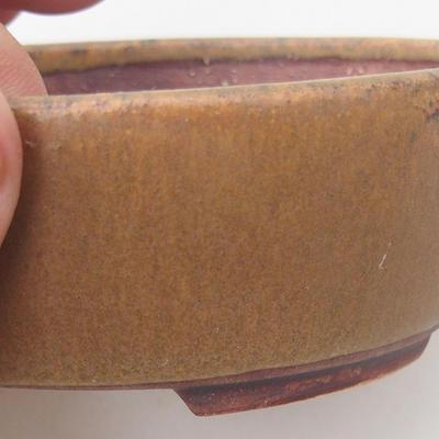 Keramische Bonsai-Schale 10 x 8,5 x 3,5 cm, braune Farbe - 2