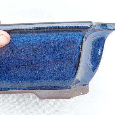 Bonsaischale 31 x 24 x 10 cm, Farbe blau - 2