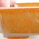 Keramische Bonsai-Schale 14,5 x 11 x 5 cm, braune Farbe - 2/2