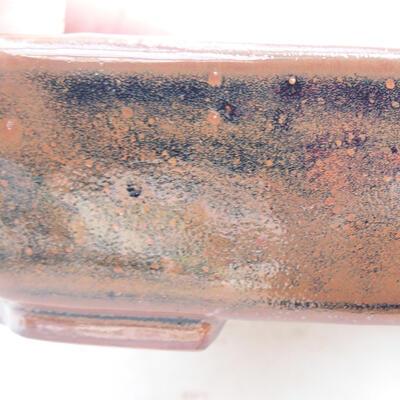 Keramische Bonsai-Schale 15 x 12 x 4 cm, braun-schwarze Farbe - 2