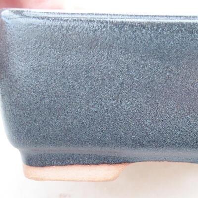Keramische Bonsai-Schale 15 x 10,5 x 5 cm, graue Farbe - 2