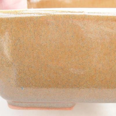 Keramische Bonsai-Schale 15 x 10,5 x 5 cm, braune Farbe - 2