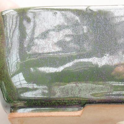 Keramische Bonsai-Schale 15 x 10,5 x 5 cm, Farbe grün - 2
