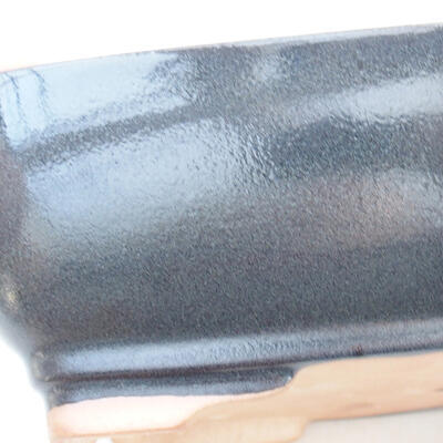 Keramische Bonsai-Schale 22 x 17 x 7 cm, graue Farbe - 2