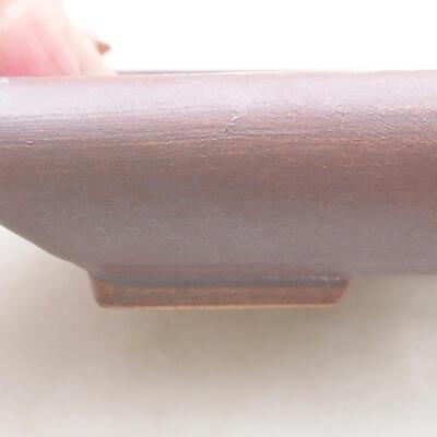 Keramische Bonsai-Schale 15,5 x 12,5 x 3 cm, graue Farbe - 2