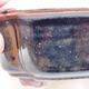 Keramische Bonsai-Schale 12,5 x 9,5 x 5 cm, braun-schwarze Farbe - 2/3