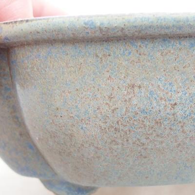 Keramische Bonsai-Schale 12 x 10 x 4,5 cm, Farbe blau - 2
