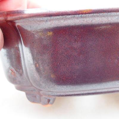 Keramische Bonsai-Schale 12 x 10 x 5 cm, braune Farbe - 2