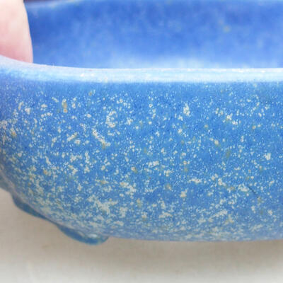 Keramische Bonsai-Schale 10 x 8,5 x 3 cm, Farbe blau - 2