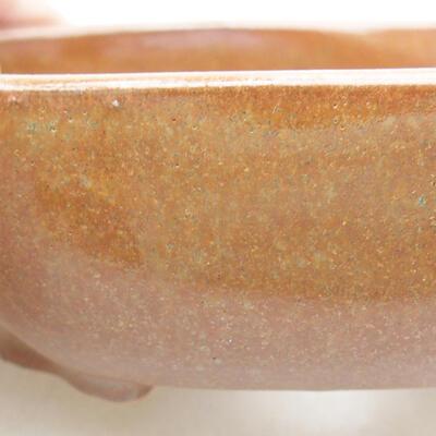 Keramische Bonsai-Schale 10 x 8,5 x 3 cm, braune Farbe - 2
