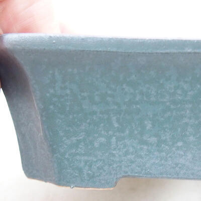 Keramische Bonsai-Schale 12,5 x 10 x 4 cm, Metallfarbe - 2