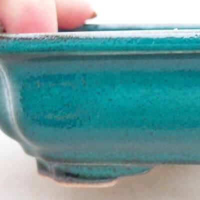 Keramische Bonsai-Schale 13 x 10 x 3,5 cm, Farbe grün - 2