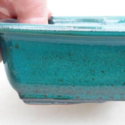 Keramische Bonsai-Schale 13,5 x 10 x 3,5 cm, Farbe grün - 2
