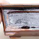 Keramische Bonsai-Schale 13 x 10 x 5 cm, Farbe schwarzbraun - 2/3